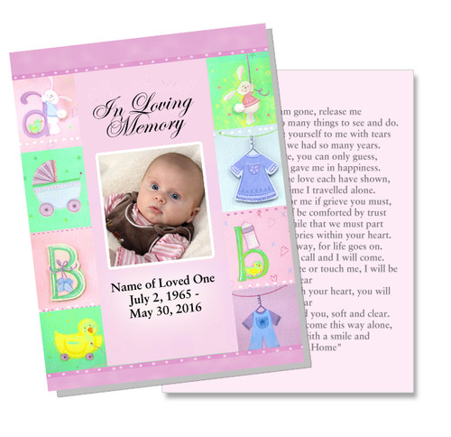 Darling DIY Funeral Card Template front