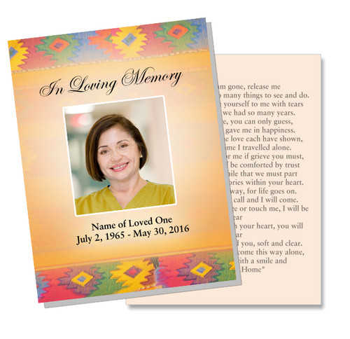 DeColores DIY Funeral Card Template