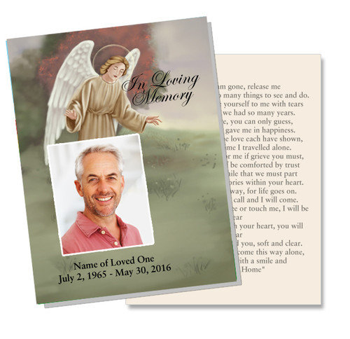 Delilah DIY Funeral Card Template