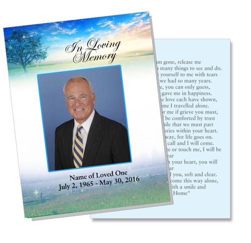 Destiny DIY Funeral Card Template