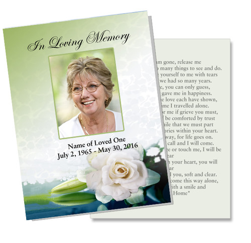 Divine DIY Funeral Card Template