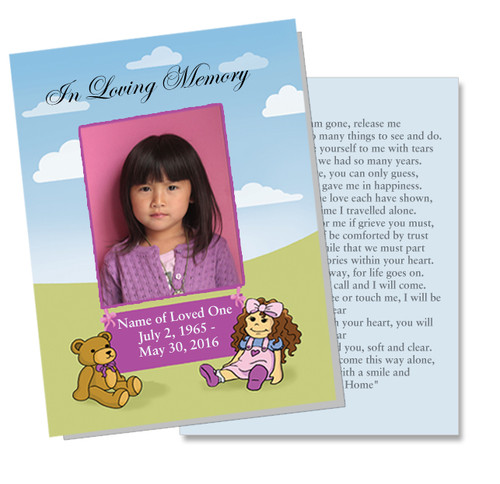 Doll DIY Funeral Card Template