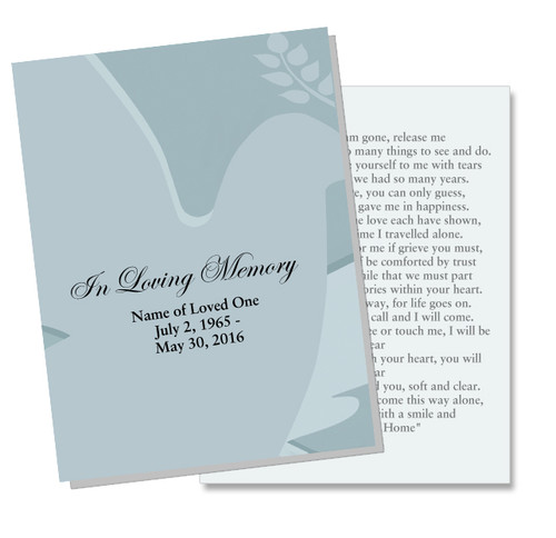Dove DIY Funeral Card Template