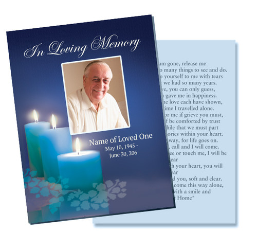Enlighten DIY Funeral Card Template