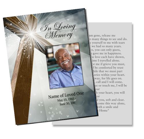 Eternal Enlighten DIY Funeral Card Template
