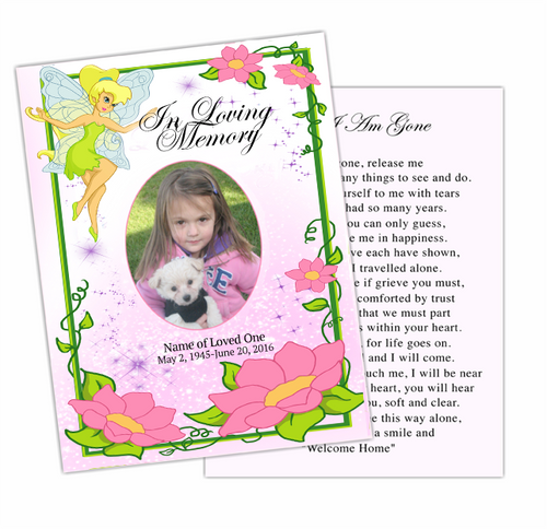 Fairy Enlighten DIY Funeral Card Template