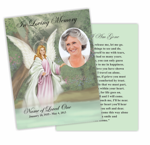 Faith Enlighten DIY Funeral Card Template