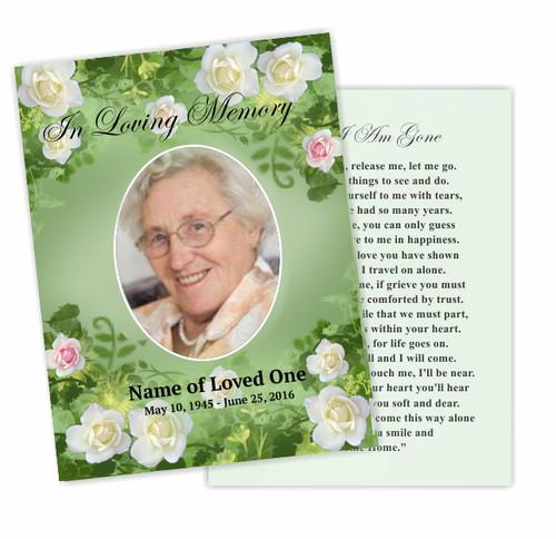 Garden Enlighten DIY Funeral Card Template