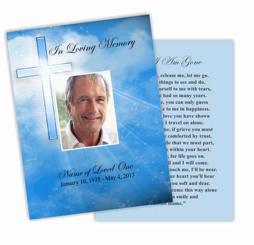 Heaven DIY Funeral Card Template