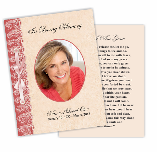 Jasper DIY Funeral Card Template