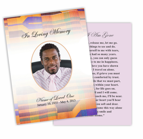 Kente DIY Funeral Card Template