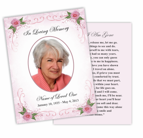 Lovely DIY Funeral Card Template