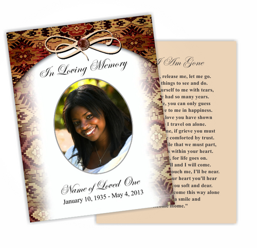 Messenger DIY Funeral Card Template