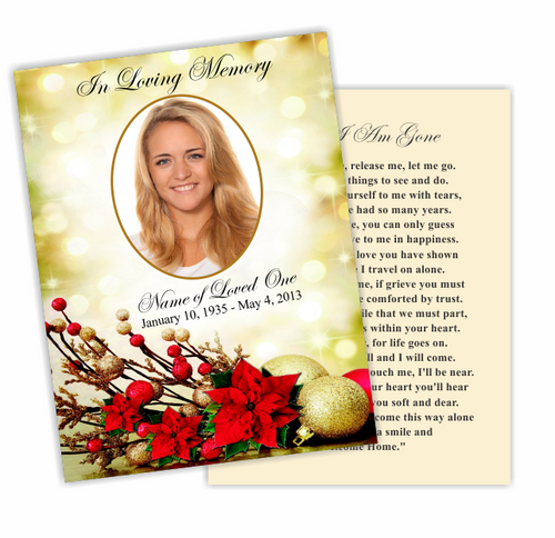 Ponsietta DIY Funeral Card Template