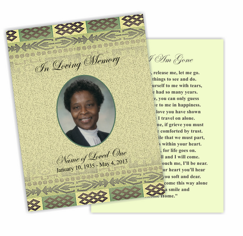 Redeemed DIY Funeral Card Template