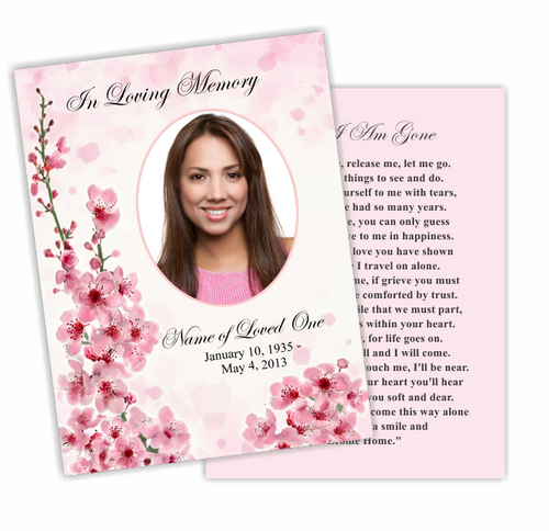 Spring DIY Funeral Card Template