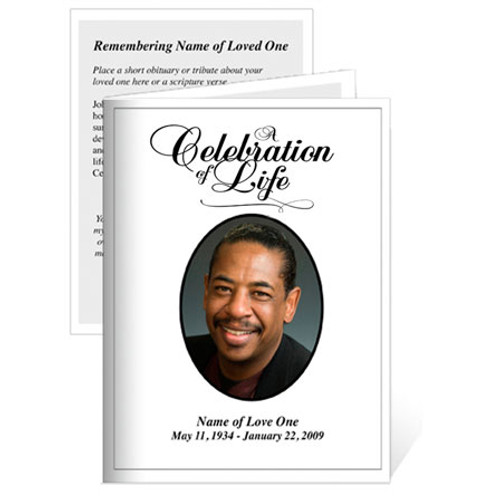 Classic Folded Funeral Card Template