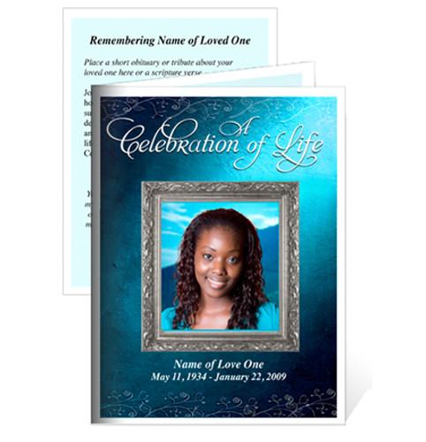Devotion Folded Funeral Card Template