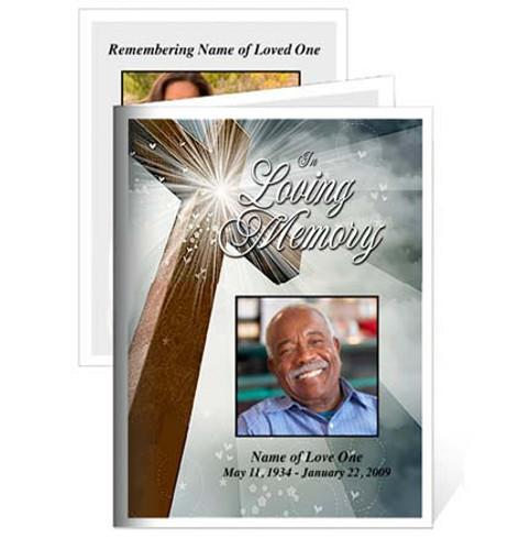 Eternal Folded Funeral Card Template