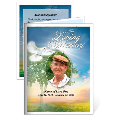 Gardener Folded Funeral Card Template