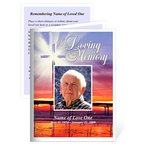 Glorify Folded Funeral Card Template