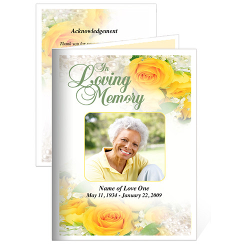 Joyful Folded Funeral Card Template