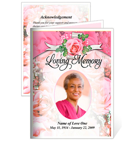 Precious Small Folded Funeral Card Template