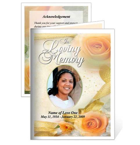 Rejoice Small Folded Funeral Card Template