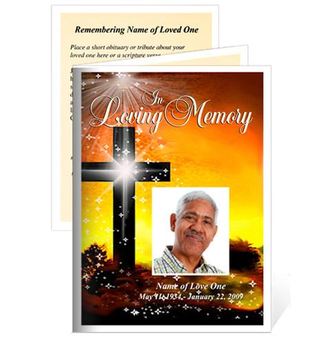 Splendor Small Folded Funeral Card Template