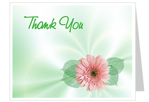 Blossom Thank You Card Template