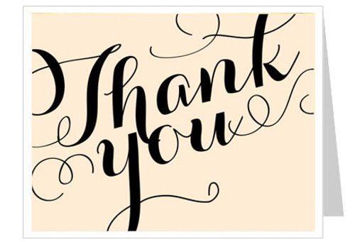 Carolyna Thank You Card Template