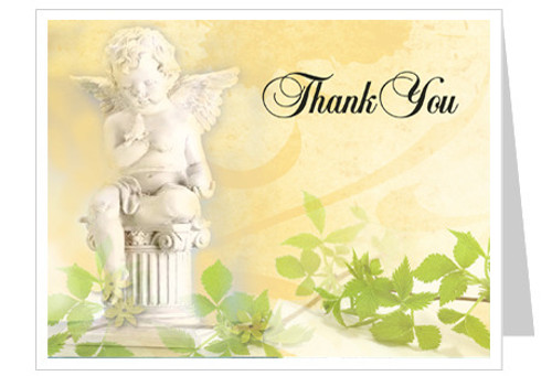 Cherub Thank You Card Template