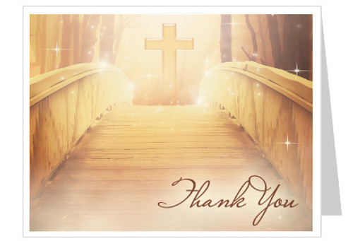 Crossing Thank You Card Template