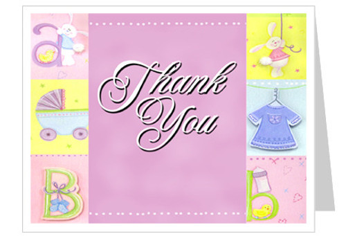 Darling Thank You Card Template