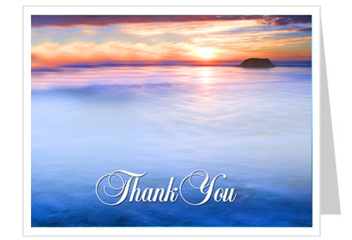 Dusk Thank You Card Template