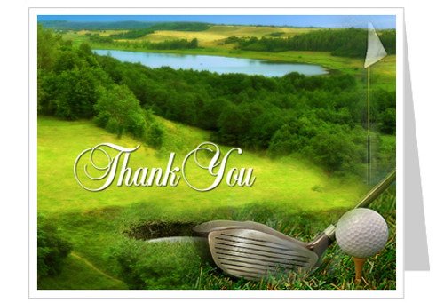 Golfer Thank You Card Template