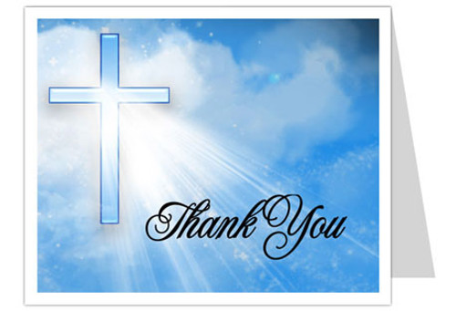 Heaven Thank You Card Template