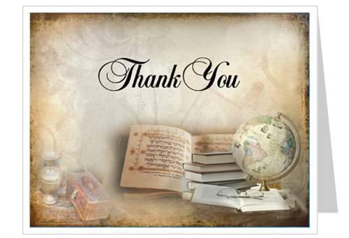 History Thank You Card Template