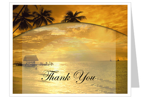 Island Thank You Card Template