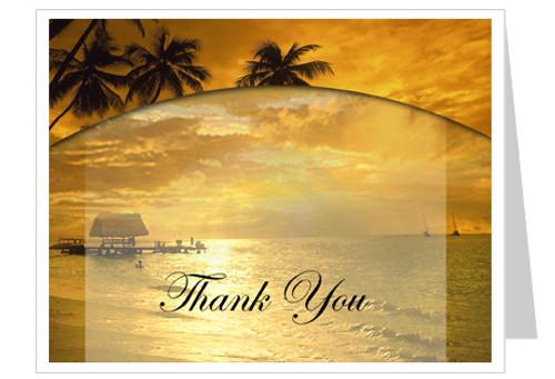 Island Thank You Card Template