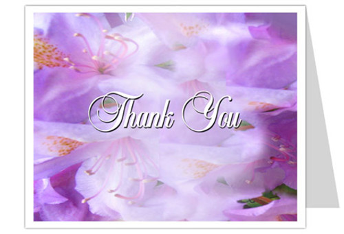 Lavender Thank You Card Template