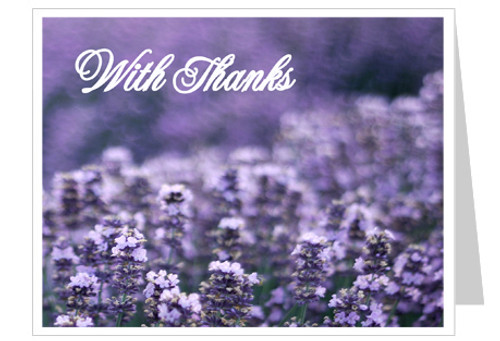 Lilac Thank You Card Template