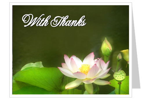 Lotus Thank You Card Template