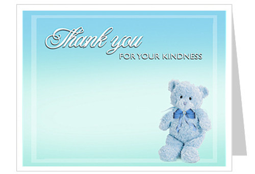 Nursery Thank You Card Template