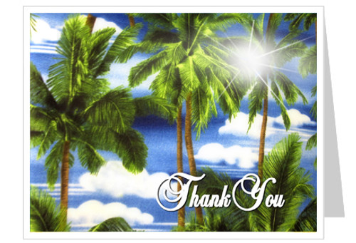 Paradise Thank You Card Template