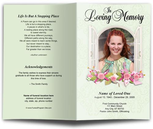 Window Funeral Program Template