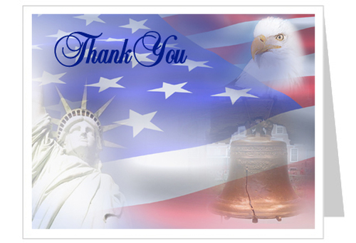 Patriot Thank You Card Template