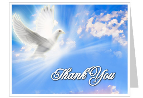 Peace Thank You Card Template