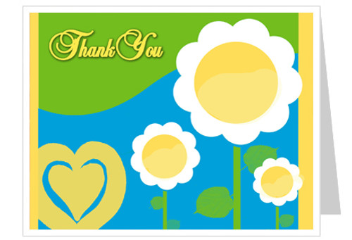 Playful Funeral Thank You Card Template