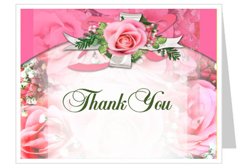 Precious Funeral Thank You Card Template